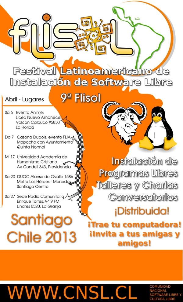 COMUNICADO DE PRENSA FLISOL STGO 2013