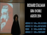Richard Stallman en Chile (gira agosto 2014)